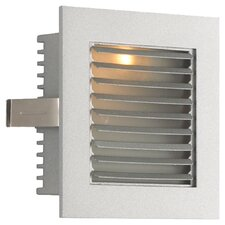 Step Light Wall Recessed Step Light In White With Louvered Face Plate