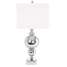 "Around The World 29"" H Table Lamp with Rectangular Shade"