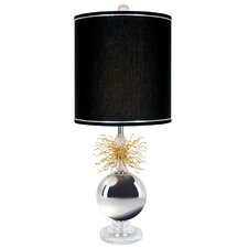 "Burst Flare Up 30"" H Table Lamp with Drum Shade"