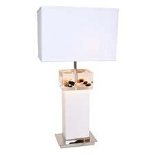 "Earthwise Pebbles on the Beach 31"" H Table Lamp with Rectangle Shade"