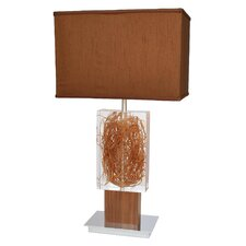 "Earthwise Living Natural 28"" H Table Lamp with Rectangle Shade"