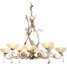 <strong>Van Teal</strong> Magical Forest Cameroon 6 Light Chandelier