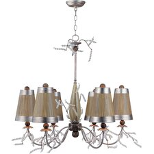 <strong>Flambeau Lighting</strong> Kristal Luxe 6 Light Chandelier