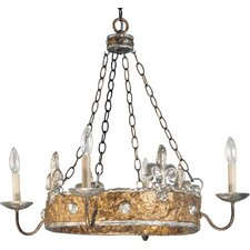 <strong>Flambeau Lighting</strong> Crown 4 Light Chandelier