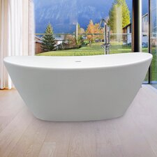 "<strong>Aquatica</strong> PureScape 64"" x 34"" Freestanding AquaStone Bathtub"