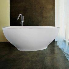 "Karolina 70.875"" H x 25.625"" W Freestanding AquaStone™ Bathtub"