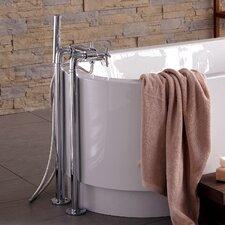 Juno Double Handle Floor Mount Tub Filler Faucet