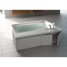 "Pool Duo Freestanding 74.75"" x 55"" Soaking Tub"