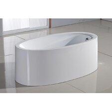 "PureScape Acrylic 63"" x 32"" Freestanding Bathtub"