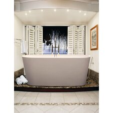 "PureScape 62"" x 28"" Freestanding AquaStone Bathtub"