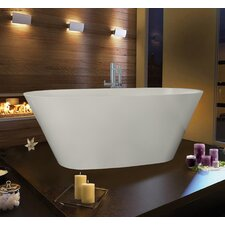 "PureScape 68"" x 28"" Freestanding AquaStone Bathtub"