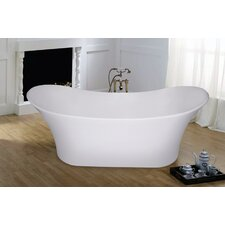 "PureScape 69"" x 30"" Freestanding AquaStone Slipper Tub"
