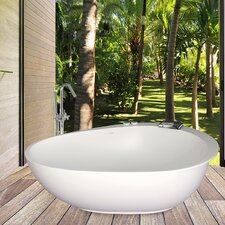"PureScape 71"" x 43"" Freestanding AquaStone™ Bathtub"
