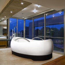 "AdmireMe 79"" x 59"" Freestanding Hybrid Acrylic-Composite Bathtub"
