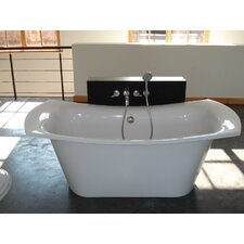 "LoveMe 71"" x 34"" Freestanding EcoMarmor Slipper Tub"