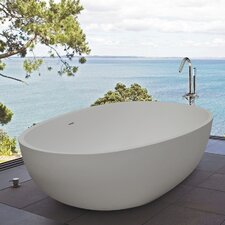 "PureScape 67"" x 33"" Freestanding AquaStone Bathtub"