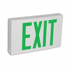 <strong>Barron Lighting</strong> Contractor Grade Thermo Plastic Green LED Exit Sign