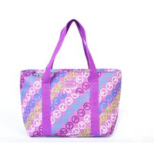 Kora Lunch Peace Sign Tote