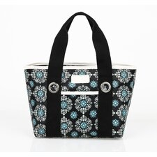 Insulated Fashion Style 11 Medallion Lunch Tote