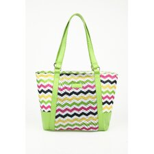 Insulated Fashion Style 154 Chevron Lunch Tote