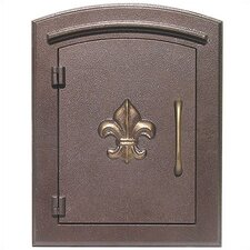 Manchester Column Mounted Mailbox With Decorative Fleur-de-lis Accent