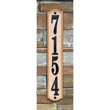 "Knollbrook Vertical 19"" Address Plaque"