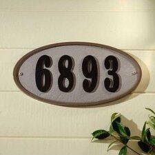 Ridge Oval Address Plaque