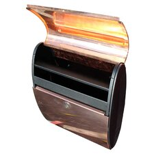 Allux Ellipse Wall Mounted Mailbox