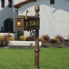 Lewiston Ornate Base and Pineapple Finial Mailbox Post