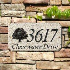 Tree Emblem Address Plaque