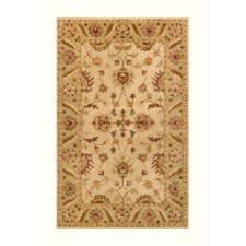 Golden Beige/Light Green Area Rug