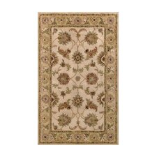 Harmony Beige/Light Green Floral Area Rug
