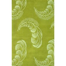 75Floral Light Green Rug