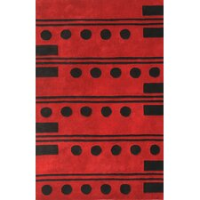 <strong>Noble House</strong> Eleen Red/Black Rug