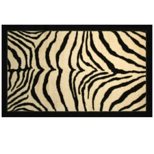 <strong>Mohawk Select</strong> New Wave Black Zebra Safari Rug