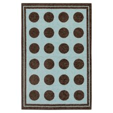 Woodgrain Light Blue Fluffy Kids Rug