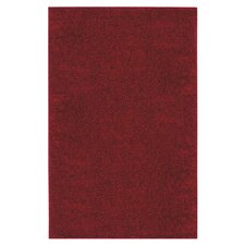 Super Texture Shag Brick Red Solid Rug