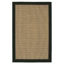Raffia Black/Gold Reed Rug