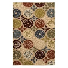 Estate Beige & Green YoYo Area Rug