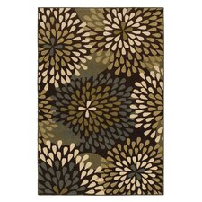 Estate Brown Retro Floral Rug