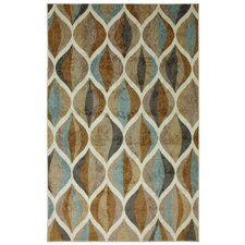 New Wave Taupe Ornamental Ogee Rug