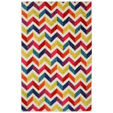 Strata Multi Mixed Chevrons Prism Area Rug