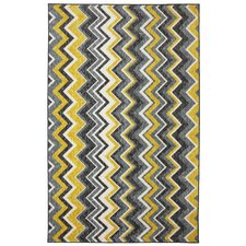 New Wave Yellow Ziggidy Rug