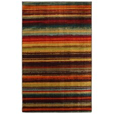New Wave Multi Boho Stripe Print Rug