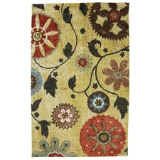 Strata Yellow Medallion Rug