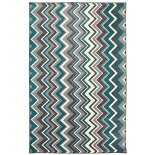 New Wave Teal Ziggidy Area Rug