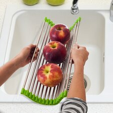 Wide Folding Drain Sink Rack Colander Drying Tray