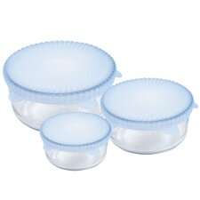 3 Piece Universal Reusable Silicone Food Covers