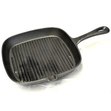 Cast Iron Ribbed Square Skillet
