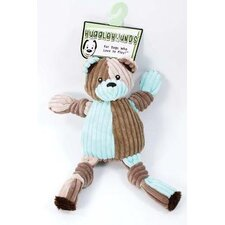 <strong>Hugglehounds</strong> Patchie Knottie Bear Dog Toy in Multi